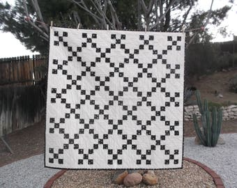 Single Irish Chain Quilt - Simple and Elegant - Lap Size - A great gift or just for yourself