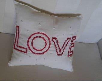 Love beaded Pillow