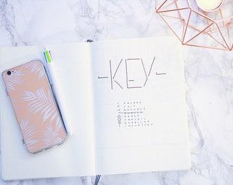 Minimalist Bullet • agenda • ultra • customizable hand written journal