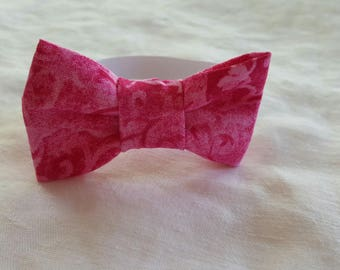 Cat Bow Tie - Bright Pink Swirls