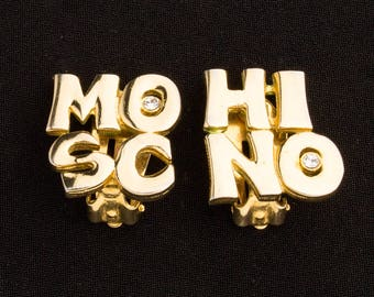 Moschino  Logo Vintage Clip on Earrings