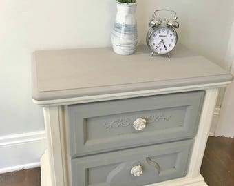 Two-toned beside table
