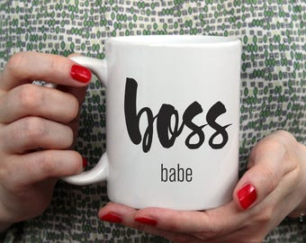 Boss Babe Mug | Boss Gift | Cute Office Decor | Inspirational Mug | Gift For Her | Girl Boss | Office Decor for Women | Boss Mug | Funny Mug