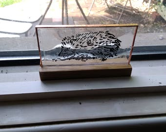 Wild Life painted on glass