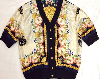 Vintage Renato Balestra silk bomber jacket