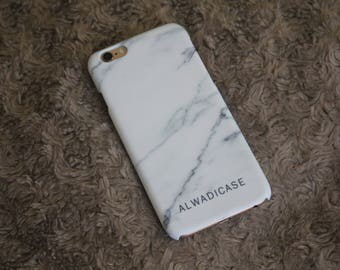 White Marble Personalised Custom Name Lower Phone Case iPhone 5 5s SE 6 6S Plus 7Plus Samsung Phone Case Samsung S5 S6 Edge S7 Edge S8 Plus