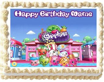 SHOPKINS Edible cake topper party image