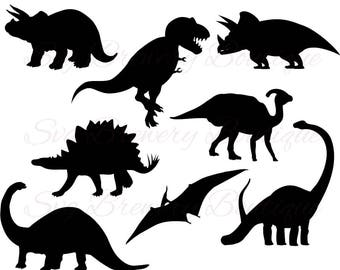 Dinosaur svg, png, dxf, for cricut, silhouette studio, cut file, cutting machine, vinyl decal, stencil template, t shirt design, party theme