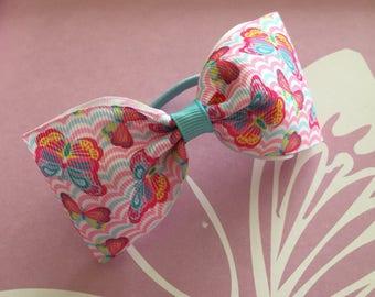 Butterfly bow hair elastic