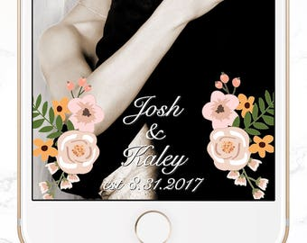 custom snapchat filter / personalized wedding snap chat geofilter / SGF-03