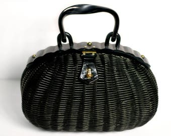 Sold - Vintage 1950's Basket Purse