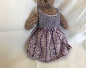 Handmade Knit Princess Bear