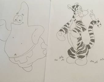 Children's character drawings