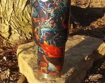 30 oz Stee Double Wall Tumbler- Hydrodipped