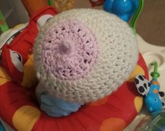 Baby Boob Beanie Breastfeeding Hat