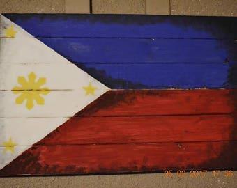 BANDERA - Wall Decor Hand Painted Philippine Flag