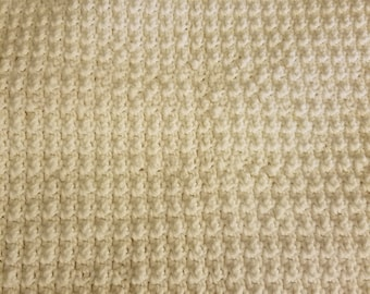Throw Blanket for Two - Raised Treble Stitch