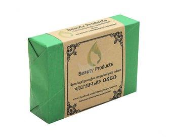Natural soap from mountain herbs and flowers of Armenia, therapeutic soap