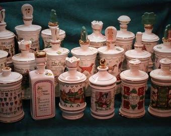Irish Ceramic Decanter Collection, Old Fitzgerald/Old Commonwealth