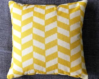 Yellow Geometric Cushion Cover, Pillow Cover, Decorative Cushion, Throw Pillow, 45cm