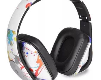Life n Soul BN350-WSP After Romeo Bluetooth Headphones, White Spread