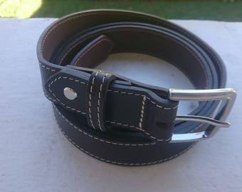 Belt leather full grain stung