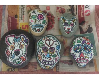 Sugar Skull Painted Rocks!