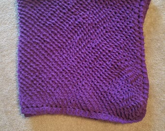 Pow Purple Baby Blanket