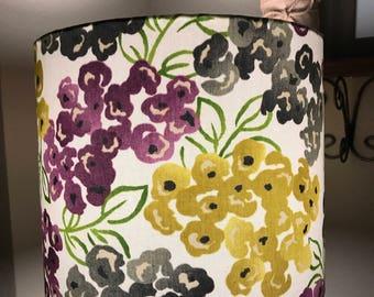 Floral Drum Lamp Shade