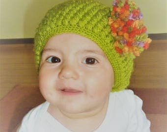 Hand knitted hat for baby