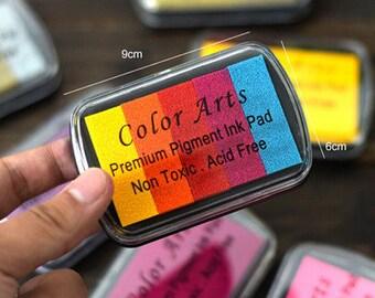 1 Pc Rainbow Color Fingerprint Wedding Tree Ink Pad - Craft Colorful Ink Pad - Fingerprint Inks