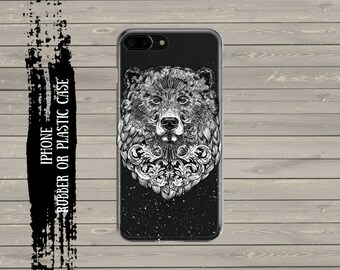Bear iPhone 7 Plus case iPhone 7 case, iPhone 6 / 6s / 6 Plus Case, iPhone 5s / SE / 5 Case, Hard plastic/ rubber case.