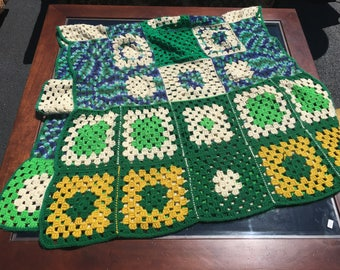 Vintage Crochet Square Blanket