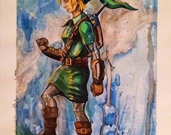Original Legend of Zelda Water Color