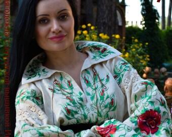 "Vyshivanka""KREM linen and roses"""