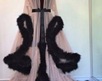 Glamorous Maribou Feather Robe