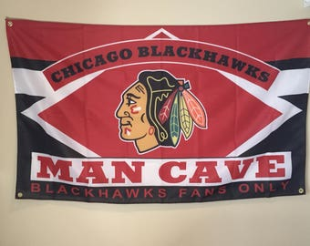 Chicago Blackhawks Man Cave Wall Flag