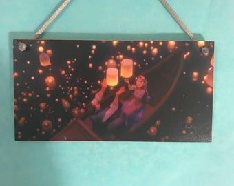 Disney Tangled inspired Lantern plaque