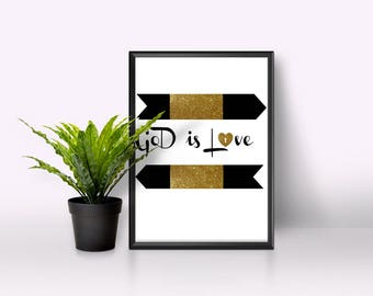 God is love digital printable