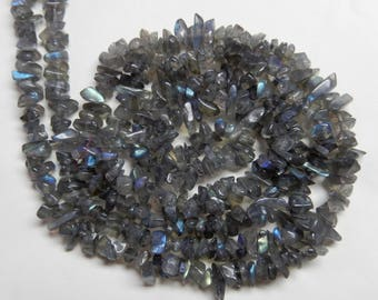 High Quality Natural Elegent Labradorite Chips Beads 4-7 MM Blue Flash AAA Quality Uncut Beads Gemstone 35'inch Long Strand Free Shipping U7