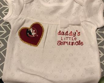 FSU little Seminole onesie