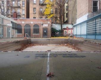 Empty Public Pool in New York City