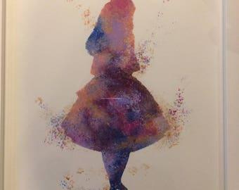 Alice in Wonderland Stencil