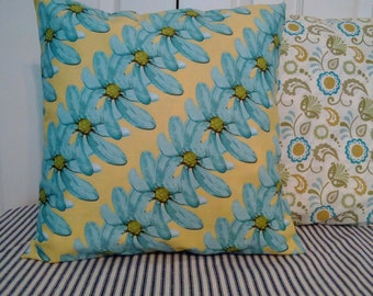 Reversible floral and paisley cushion, pillow