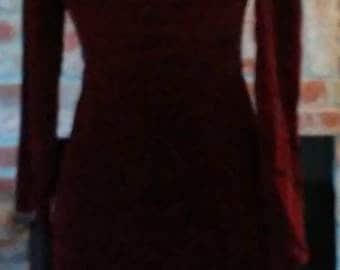 Maroon/ burgandy off the shoulder dress