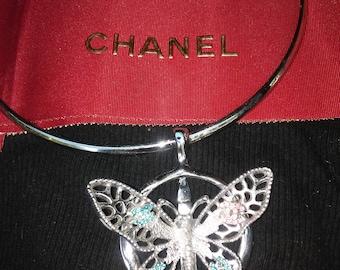 Vintage chanel butterfly choker