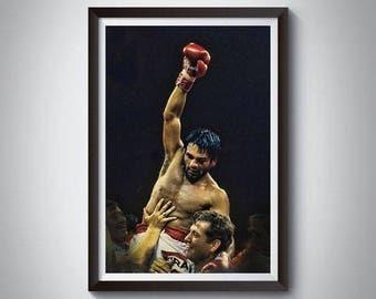 Boxing Inspired Art Poster Print, Roberto Durán Poster 2
