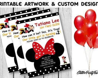 Minnie Mouse Invitation [Red] - Digital invitation