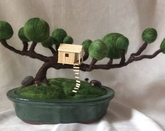 Needle Felt Bonsai tree