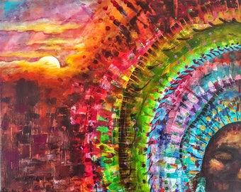Original Acrylic Painting, The Dreamer